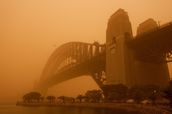 Sydney Harbour Bridge under Dust Blanket